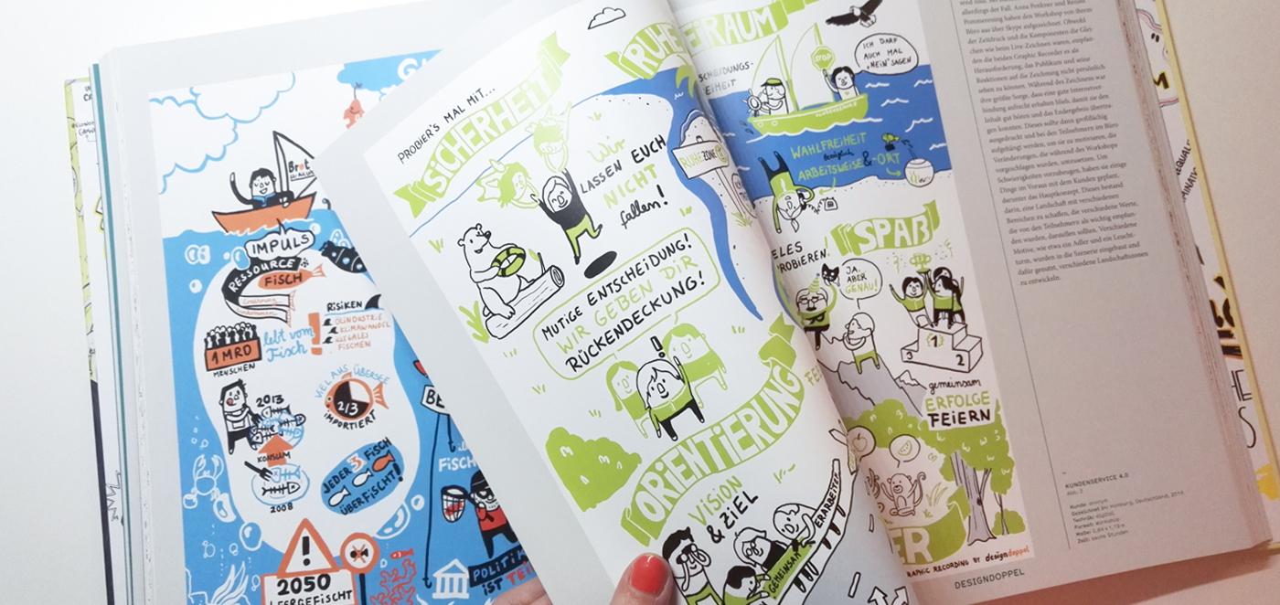 Graphic Recording Buch Designdoppel